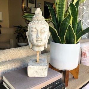 Buddha Head Sculpture HEAVY Ceramic Sculpture